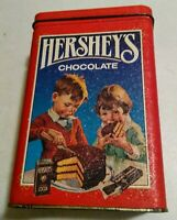 Vintage 1991 Hershey's Chocolate Decorative Metal Tin Can Canister Empty