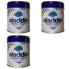 3 x - LIMPIADOR PLATA y METALES  ALADDIN * SIDOL * 75 gr x 3