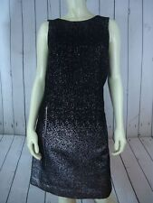 MICHAEL KORS Dress 14 NEW w/Tag $195 Black Acrylic Wool Blend Shift Retro Chic