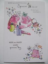 WONDERFUL SHOPPING & MAKE UP VERY SPECIAL MUM BIRTHDAY GREETING CARD