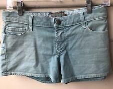 Paige W 28 Womens Shorts Premium Denim Aqua Stretch Cotton US Designer NWOT