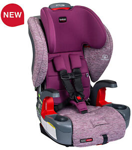 Britax Grow With You ClickTight Child Safety Booster Car Seat Mulberry NEW