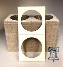 100 Mercury Dime Mylar Cardboard Coin Holder Flip Mount Paper Storage Case 18mm