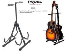 PROEL FC820 SUPPORTO STAND doppio per due chitarre classica folk elettrica basso