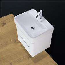 Basin Sink Vanity Unit Cabinet Wall Hung Mounted Bathroom White 600 mm SQ2N KL