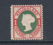 Heligoland Sc 14 MLH. 1875 1pf Queen Victoria, perf 14 reprint, F-VF