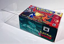 1 Box Protector For N64 POKEMON STADIUM   Custom Clear Display Case  Nintendo 64