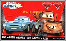 WALMART THE CARS MOVIE FINN McMISSILE AND MATER #FD21868 COLLECTIBLE GIFT CARD