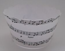 CUPCAKE WRAPPERS - Musical Notes x 12 cup cake wraps ~ White & Black - Cup Cake
