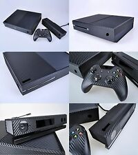 Black Carbon Fiber Cover Skin Sticker for Xbox One & Kinect & 2 controller skins