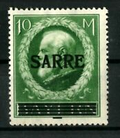 GERMANY SARRE 10 M. Mi. 31 .Pr.9000 €  SIGNED MNH