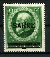 GERMANY SARRE 10 M. Mi. 31 .Pr.9000 €  SIGNED MNH