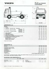 Volvo FL 10 4x2 Trekker Luchtvering Prospekt Technische Daten  NL 1/95 1995 Lkw
