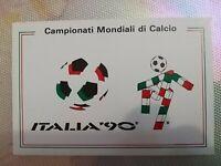 Rarissima Cartolina Mondiali calcio Italia 90 da collezione Alta 10 cm Larga15cm