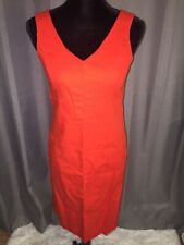 Talbots Sleeveless V Neck Orange Dress Size 6p