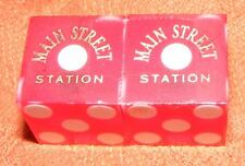 The Main Street Station Hotel and Casino Playing Dice - Used - Red - Las Vegas