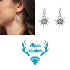 Alpenklunker Ohrhänger Edelweiß Kristall Trachtenschmuck Tracht schmuckrausch