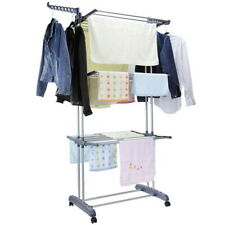 Laundry Clothes Storage Drying Rack Portable Folding Dryer Hanger Heavy Duty