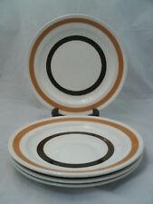 "Carrigaline COLLEEN Set of 4-6 7/8"" Bread Dessert Plates Ireland Brown Bands EC"