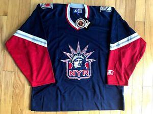 New York Rangers Blank Starter Brand New NHL Hockey Jersey XL