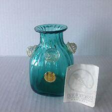 Murano Italian glass small bottle Green/Turquoise  & Aventurine round Knobs