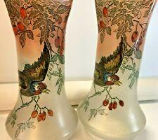 2 Vases Legras au superbe décors d'oiseau…