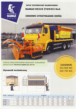 Kamaz 65115 6x4 Snowplow 2017 brochure catalogue
