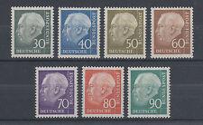 Germany Sc 755-761 MNH. 1956-57 Pres. Heuss cplt, VF