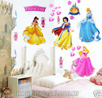 Disney Princess & Castle with love hearts Removable Wall Sticker/Decal/Decor
