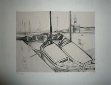 GUASTALLA gravure Originale Signée Venise Jeune Gravure Contemporaine Jacquemin