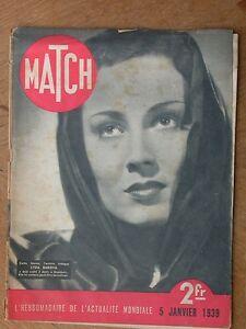 MATCH Revue Lyda Barova Maxim's courtisanes Tunisie 1939