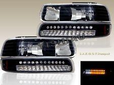 99-02 CHEVY SILVERADO 00-06 SUBURBAN TAHOE HEADLIGHTS + LED BUMPER SIGNAL LIGHTS