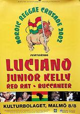 Lucianio & Junior Kelly 2002 Original Swedish Promo Poster