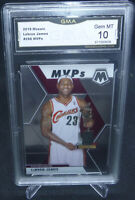 2019-20 Panini Mosaic Lebron James MVP's Card #298 GMA Graded Gem Mint 10