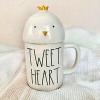 "NEW! Rae Dunn By Magenta ""TWEET HEART"" Mug w/ Little Chick Topper 🐣 Easter 2021"