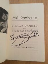 Signed by Stormy Daniels - Full Disclosure HC Book 1st/1st Pic Donald Trump