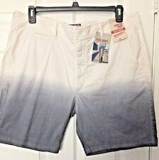 """Men's Arizona Jean Co FLEX Shorts Size 38 X 8.5"""" White Gray Dip Dye. NWT"""