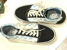 Vans Ward Womens Shoes Skate Low Tops Blue/White Checkerboard Size 8  Used