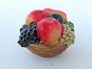 Antique Figural Tape Measure Celluloid Basket of Fruit