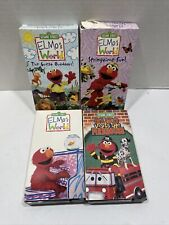 5 VHS lot Sesame Street Elmo's World Sing Along Songs Learning