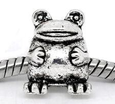 Frog Toad Zoo Animal Amphibean Pet Bead for Silver European Style Charm Bracelet