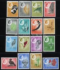 SWAZILAND 1962 SG 90-105 SC 92-107 OG MNH ** COMPLETE SET 16 STAMP