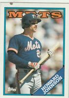 FREE SHIPPING-MINT-1988 Topps New York Mets  #85 Howard Johnson PLUS BONUS CARDS