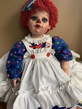 Virginia Turner Large Raggedy Ann Collector Doll with complete outfit, shoes.