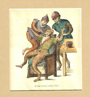 Zunftbild Tierarzt auf Antikpapier im A4-Format G4929