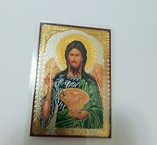 John the Baptist orthodox laminated icon Иоанн Креститель