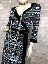 Auth New $435 DVF DIANE von FURSTENBERG Runway Wrap 100% Silk Dress 8 US 44 IT M