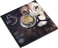 Südafrika 5 Rand 2019 Löwe Big Five 1 Oz Silbermünze in Farbe