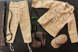 Vintage Action Man German Afrika Korps Uniform KAR98 goggles  Palitoy
