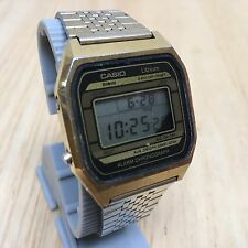 Rare Vintage Casio A150G Men Digital Alarm Chrono Quartz Watch Hours~New Battery